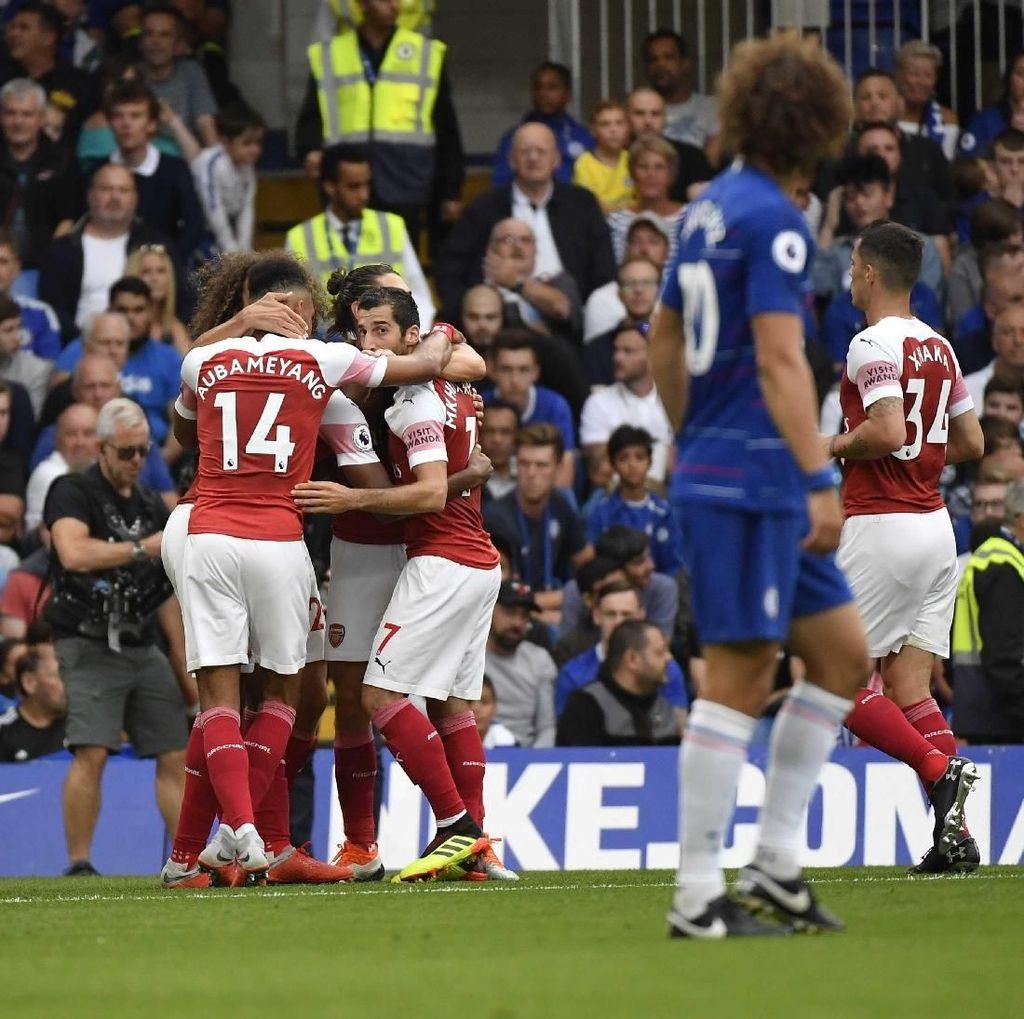 Sengit, Chelsea vs Arsenal 2-2 di Babak Pertama