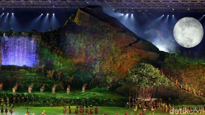 Pembukaan Asian Games 2018 pada 18 Agustus begitu spektakuler yang membuat mata dunia terbelalak dan media-media Asing memberitakan. (Agung Pambudhy/detikSport)