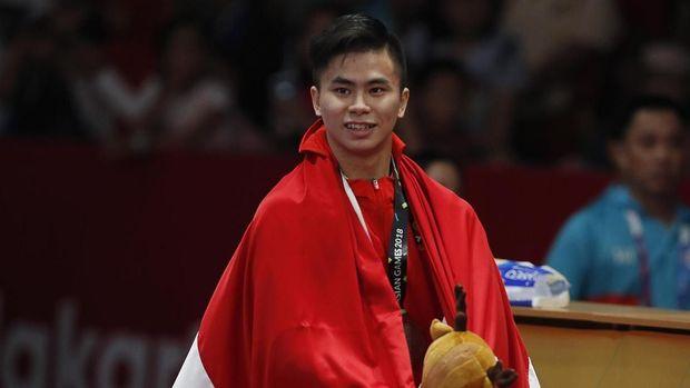 Edgar Xavier sukses mempersembahkan medali pertama untuk Indonesia dengan merih perak.