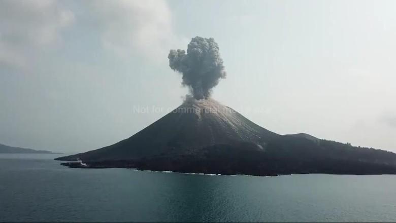 Gunung Anak Krakatau Erupsi 576 Kali Sehari, Tak Ada Dampak Merusak