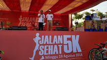 Meriahkan HUT RI ke-73, Bulog Jalan Sehat Bersama 3.000 Peserta