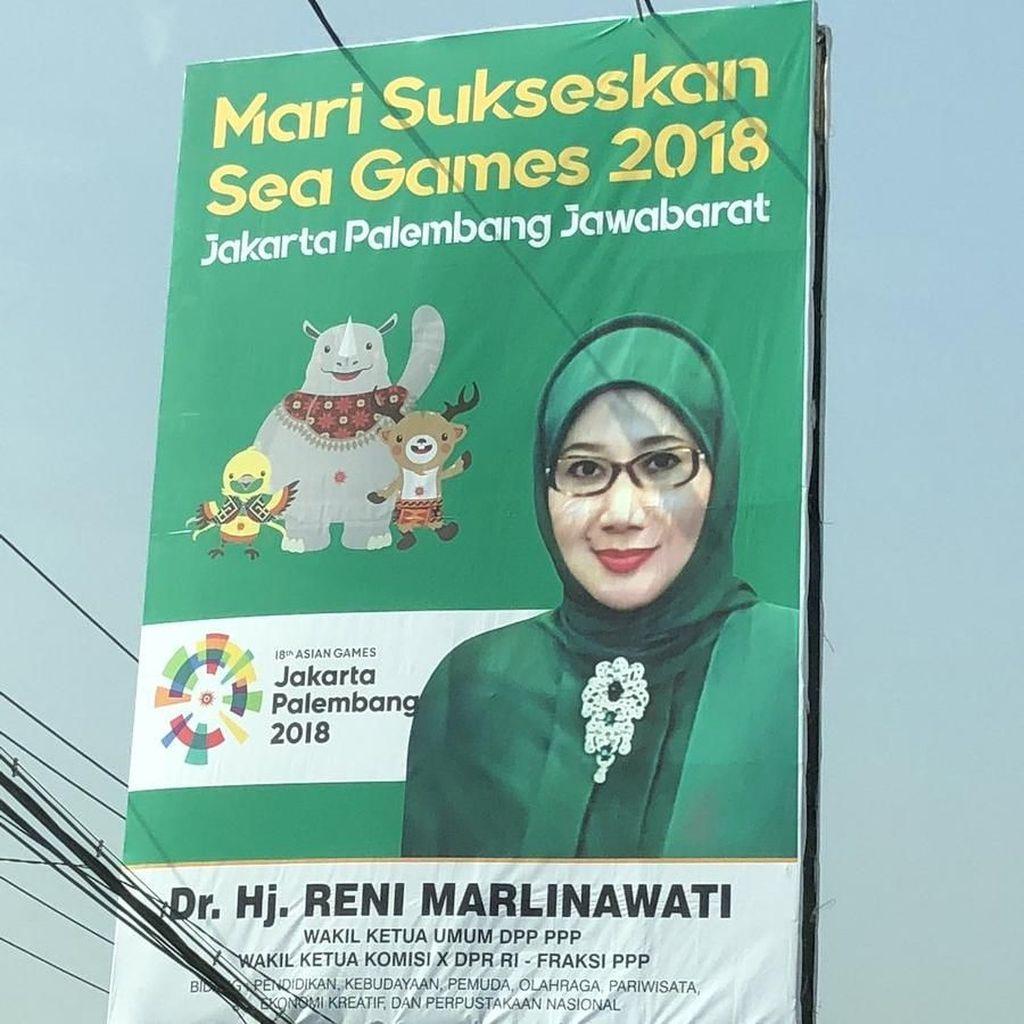 Viral Baliho Anggota DPR Salah Tulis Asian Games Jadi Sea Games