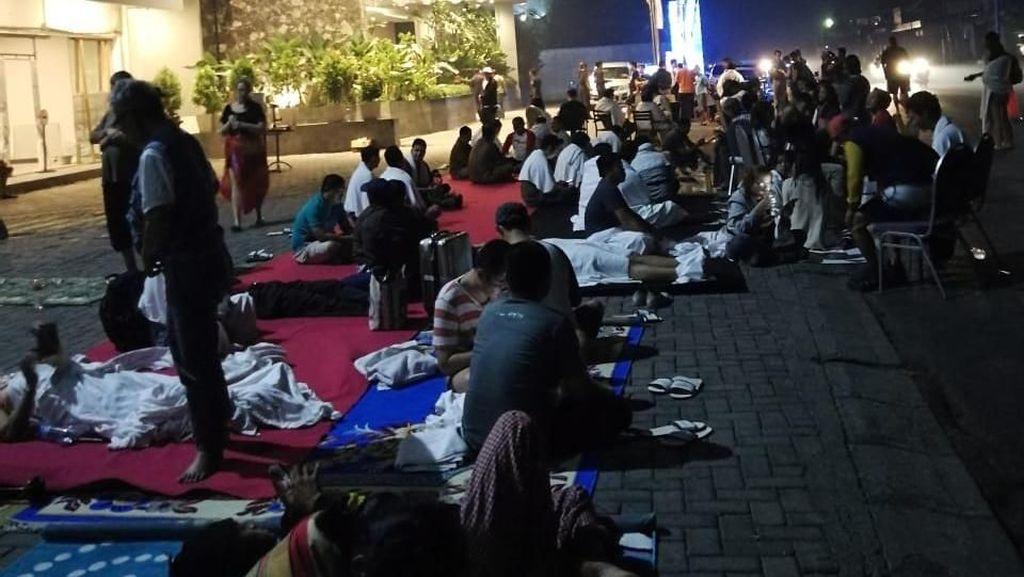 Warga Bali Merasakan Guncangan Gempa Lombok