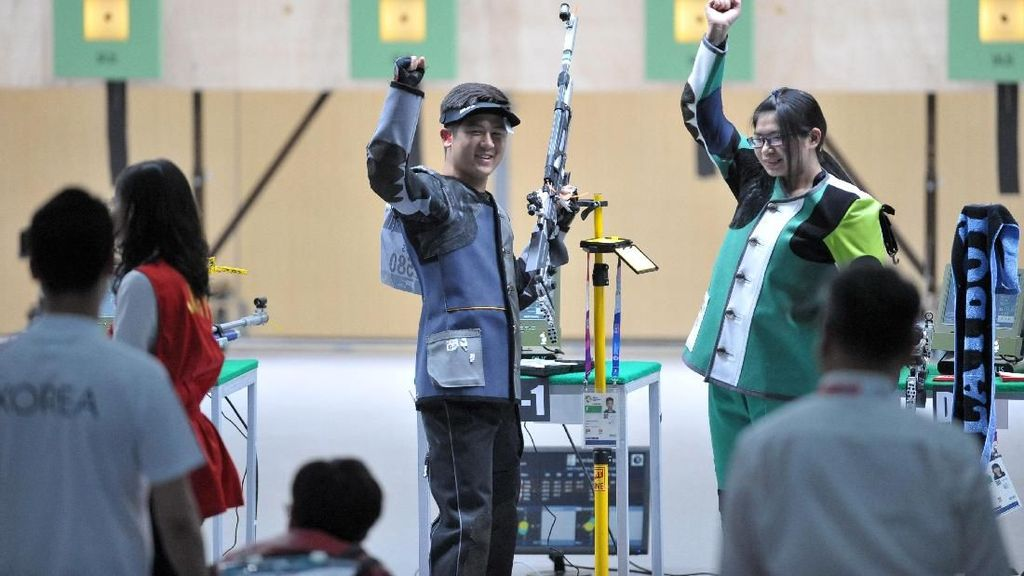 Emas Menembak Pertama Asian Games 2018 Jatuh ke Tangan Duet Taiwan