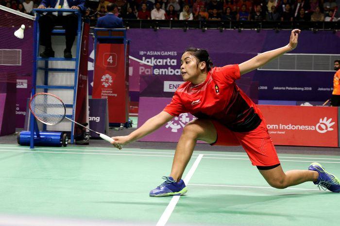 Tim bulutangkis beregu putri Indonesia melaju perempatfinal Asian Games 2018. Indonesia lolos setelah mengalahkan Hong Kong 3-0 di babak 16 besar. Istimewa/Dok. Humas PBSI.