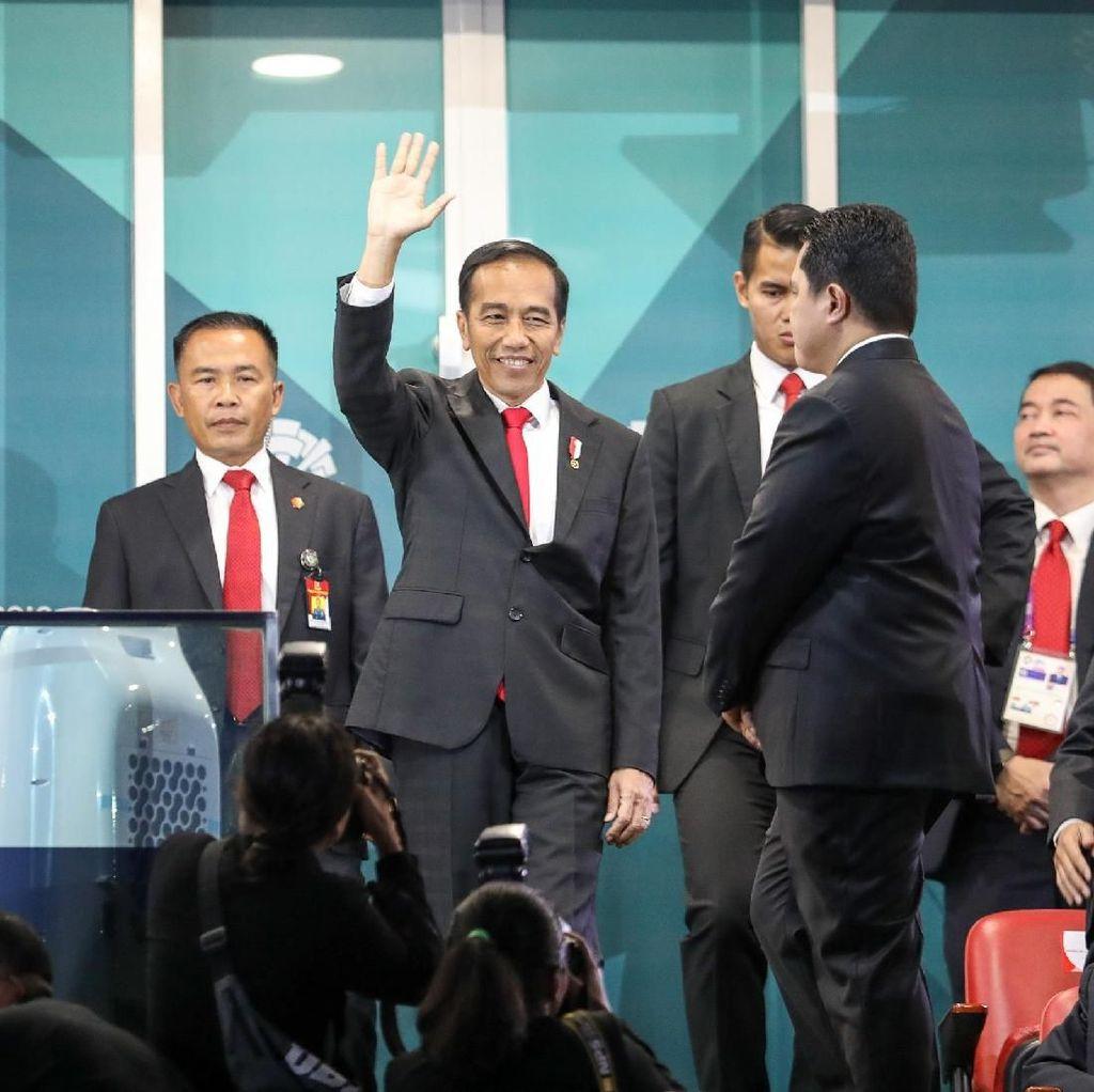 Gaya Milenial Presiden Jokowi di Asian Games 2018