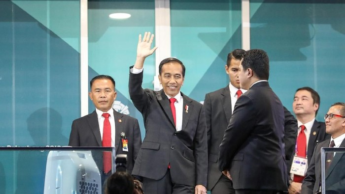 Jokowi  saat opening Asian Games (Foto: INASGOC/Wahyudin)