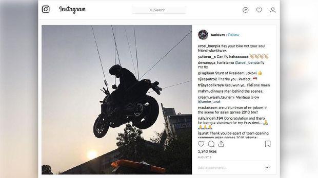Saddum So, Stuntman pengganti Jokowi asal negeri gajah, Thailand.