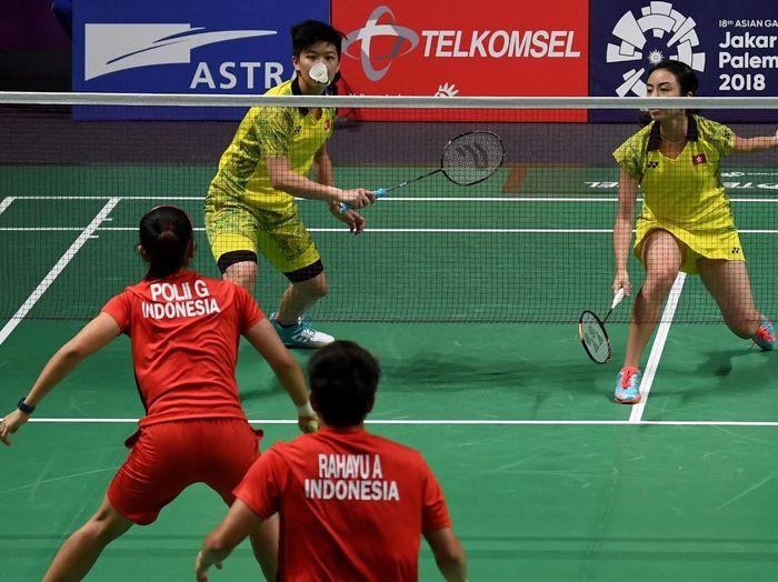 Indonesia melaju ke perempatfinal bulutangkis beregu Asian Games 2018 (ANTARA FOTO/INASGOC/Puspa Perwitasari)