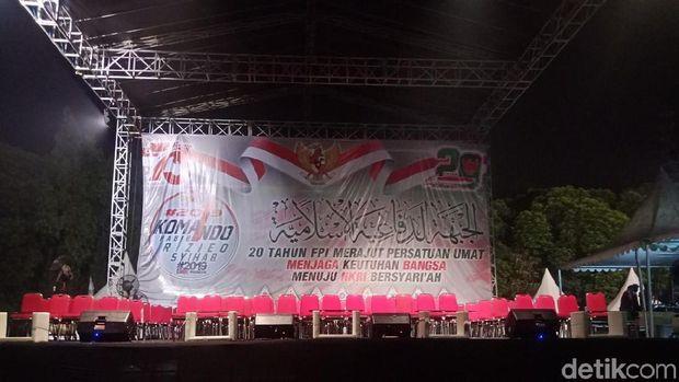 Anggota FPI Mulai Padati Buperta Cibubur, Peringati Milad ke-20