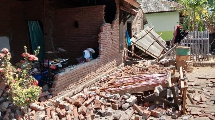 Kerusakan akibat gempa di Lombok (dok. BNPB)