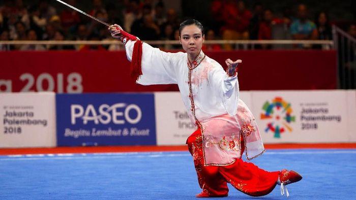 Berkat fokus, Lindswell Kwok sukses meraih emas Asian Games 2018 (Foto: Beawiharta/Reuters)