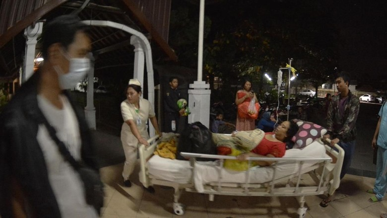 Pascagempa, Pasien RSUP Sanglah Dievakuasi
