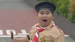 Kenalkan! Ini Anak Pramuka yang Melongo Lihat Jokowi Naik Moge
