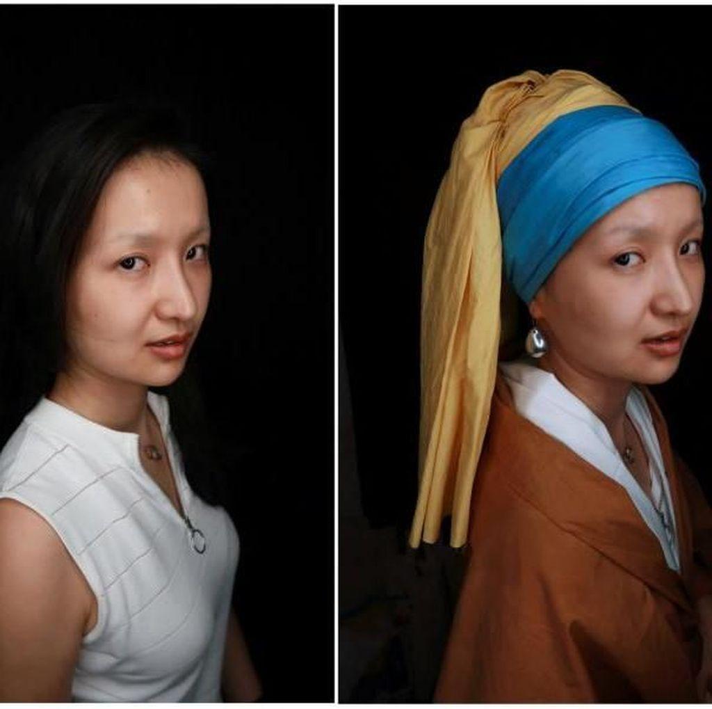 Makeup Artist China Sukses Menyulap Lukisan Mona Lisa