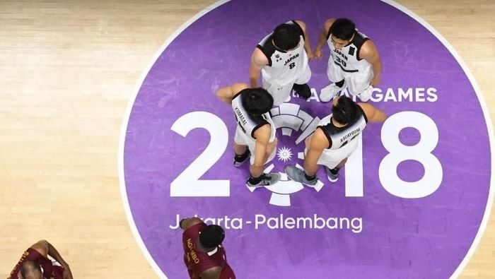Ilustrai pertandingan basket di Asian Games 2018 (AFP PHOTO/Anthony WALLACE)