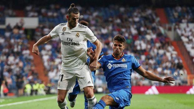 Gareth Bale mencetak satu gol saat Real Madrid mengalahkan Getafe 2-0.
