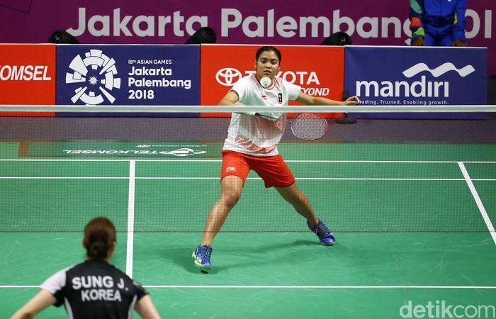 Indonesia berhasil memimpin 1-0 lewat performa apik Gregoria Mariska yang tampil sebagai tunggal pertama.