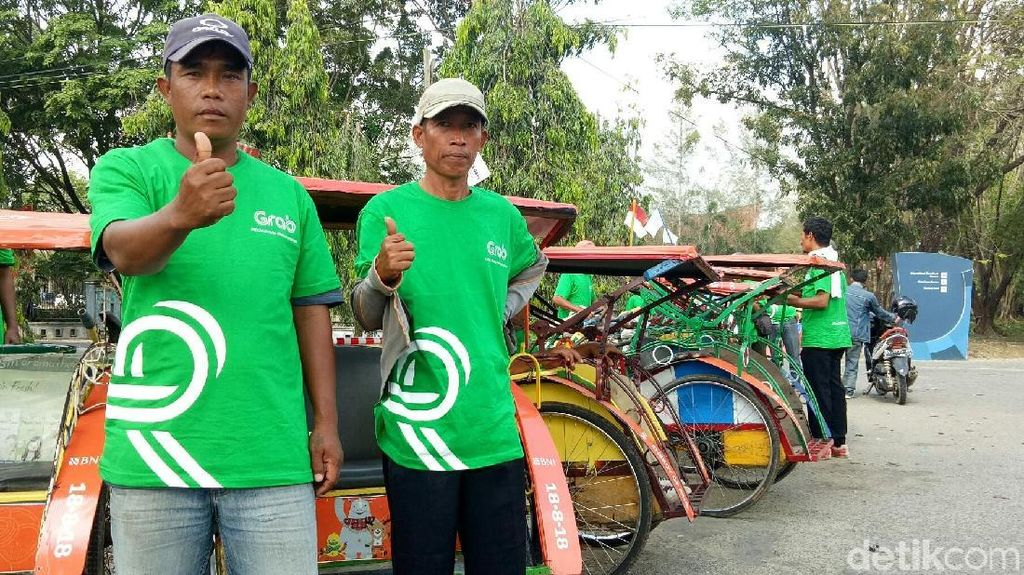 50 Becak Siap Antar Penumpang Secara Gratis Selama Asian Games