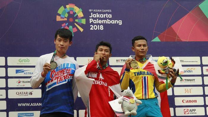 Indonesia menambah tiga emas di hari Senin (20/8/201) (Foto: Dwi Andri Purwanto/ANTARA FOTO/INASGOC)