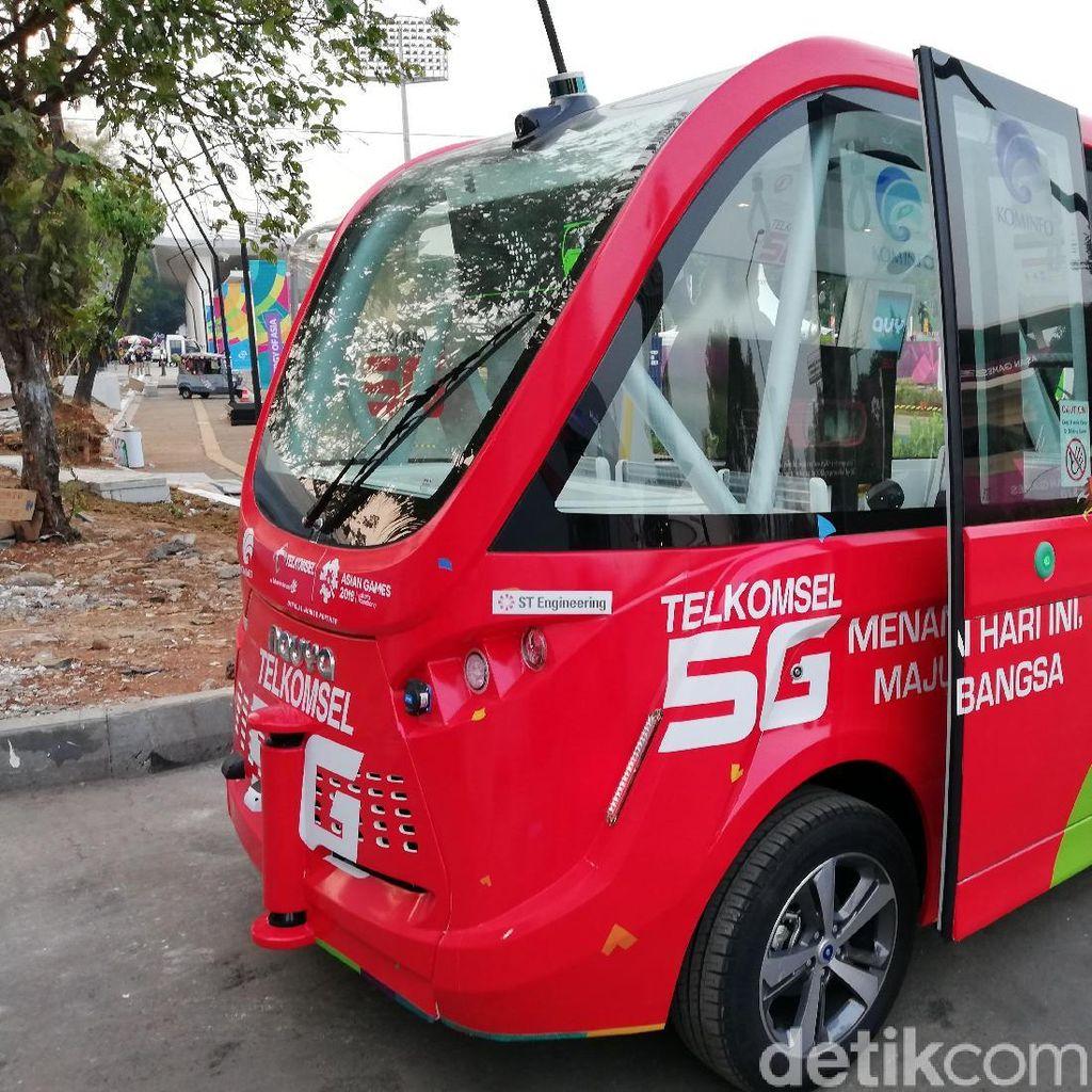 Kata Masyarakat Soal Bus Tanpa Sopir di Asian Games 2018