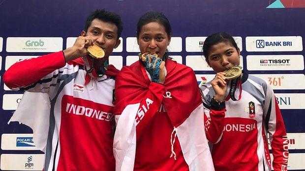 Nomor downhill memberikan total 2 emas dan 1 perunggu untuk kontingen Indonesia.