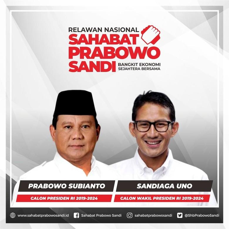 Sahabat Anies-Sandi akan Berganti Jadi Sahabat Prabowo-Sandi