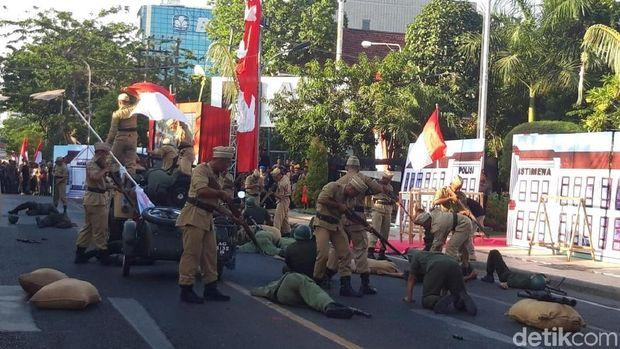 Teatrikal Perjuangan M Yasin di Peresmian Monumen Perjuangan Polri