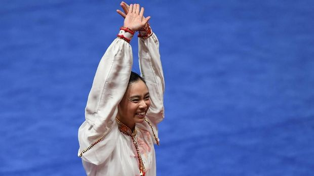 Lindswell Kwok meraih medali emas pertama dan terakhir di Asian Games. (