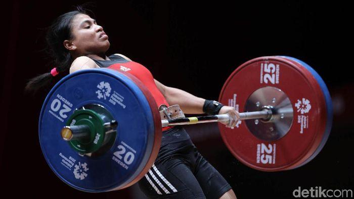 Sri Wahyuni sedang hamil dan digantikan oleh Syarah Anggraini dalam kualifikasi Olimpiade 2020. (Agung Pambudhy/detikSport)