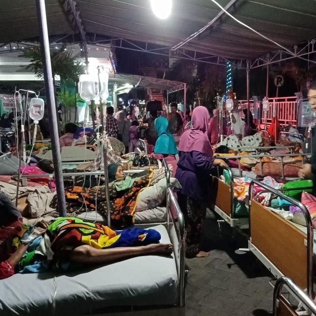 Gempa Lombok, 143 Pasien Dirawat di Lapangan Kantor Pemda Sumbawa