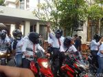 Tiru Jokowi, Sekjen KIK Berangkat ke KPU Naik Moge