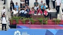 Jokowi-Sandiaga Nonton Pertandingan Renang Asian Games di GBK