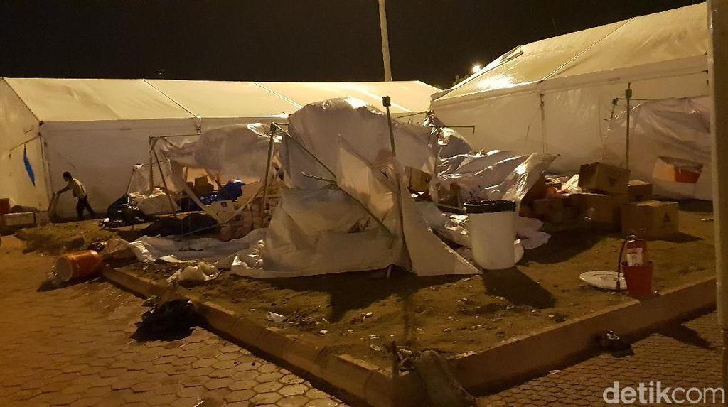 Menag Patroli Pasca Angin Kencang di Arafah, Situasi Kondusif