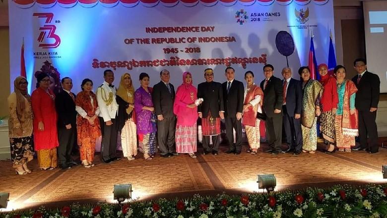 Doa dari Kamboja untuk Lombok Saat Resepsi Diplomatik HUT ke-73 RI