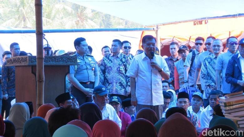 JK Pastikan Penanganan Gempa Lombok Sama dengan Bencana Nasional