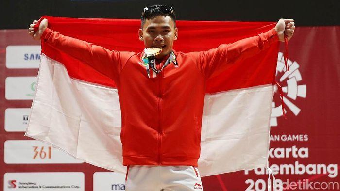 Eko Yuli, salah satu peraih medali emas Asian Games 2018 (Agung Pambudhy/detikSport)