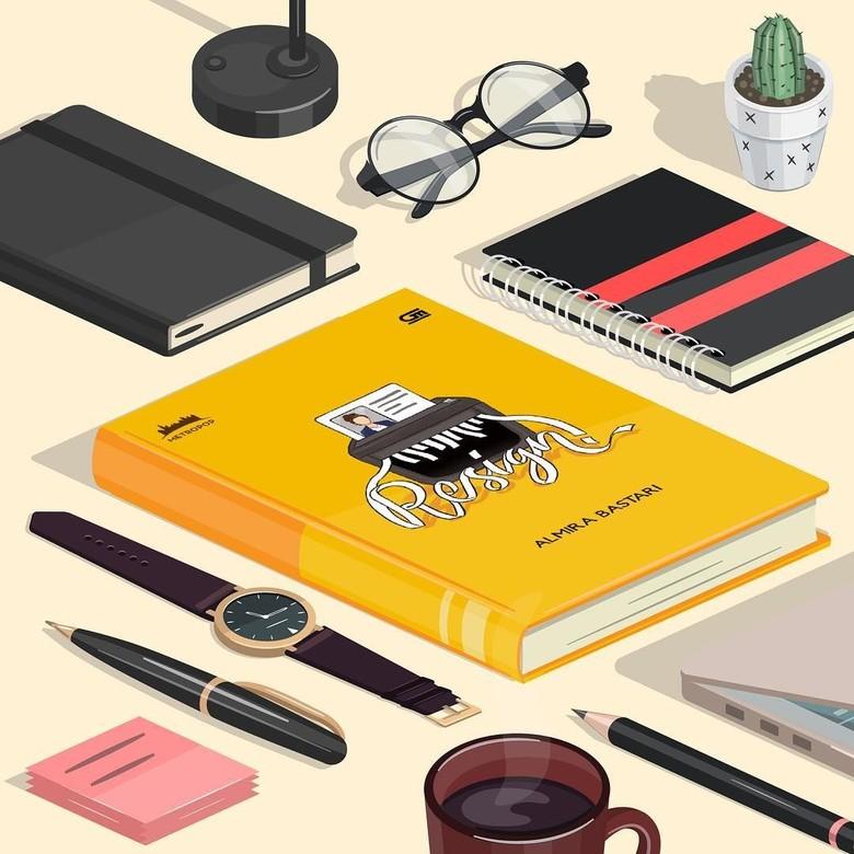 Novel Resign! Ingatkan Pembaca Agar Tak Mudah Mengundurkan Diri Foto: Dok.Almira Bastari/ Instagram