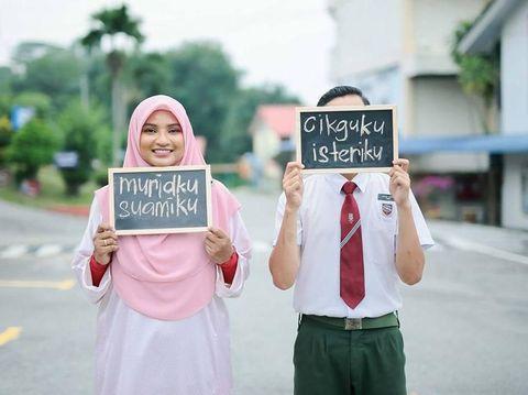 Bukan Hanya di Drama TV, Kisah Cinta 'Guruku Istriku' Ini Nyata