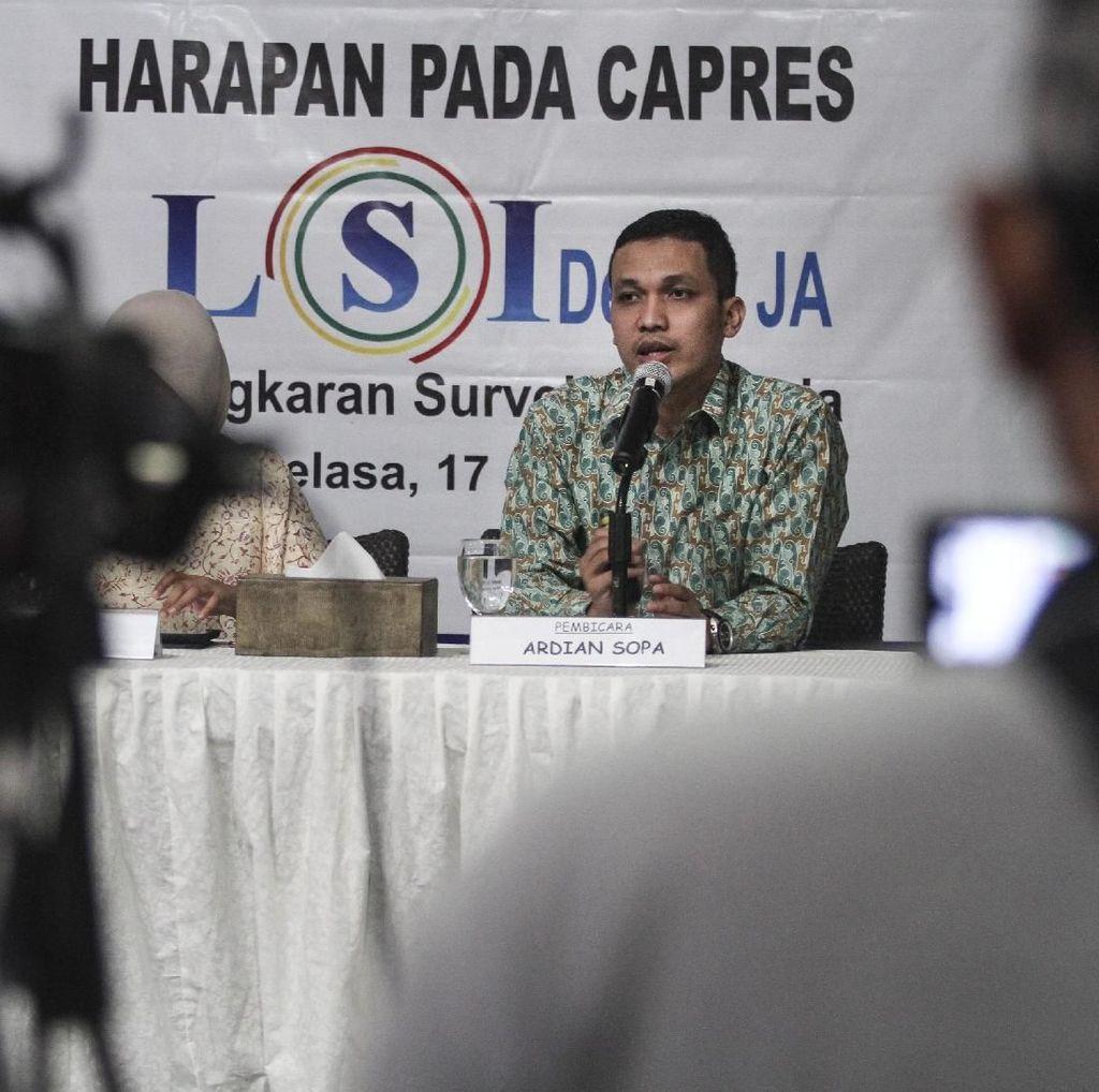 LSI Denny JA: Karena Maruf, Pemilih Milenial Tinggalkan Jokowi
