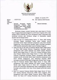 Fahri Hamzah Umbar Surat Tjahjo Minta Kepala Daerah Bantu NTB