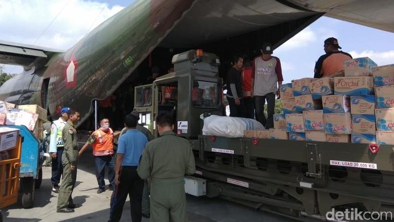 Lanud Abd Saleh Kembali Kirim Bantuan Korban Gempa Lombok