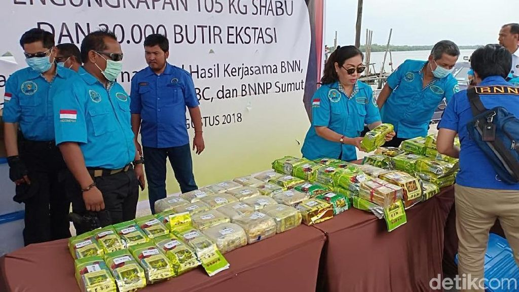 Barbuk Anggota DPRD NasDem: 105 Kg Sabu dan 30 Ribu Pil Ekstasi