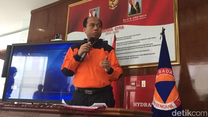 Kepala Pusat Data, Informasi, dan Humas BNPB Sutopo Purwo Nugroho (Samsudhuha/detikcom)
