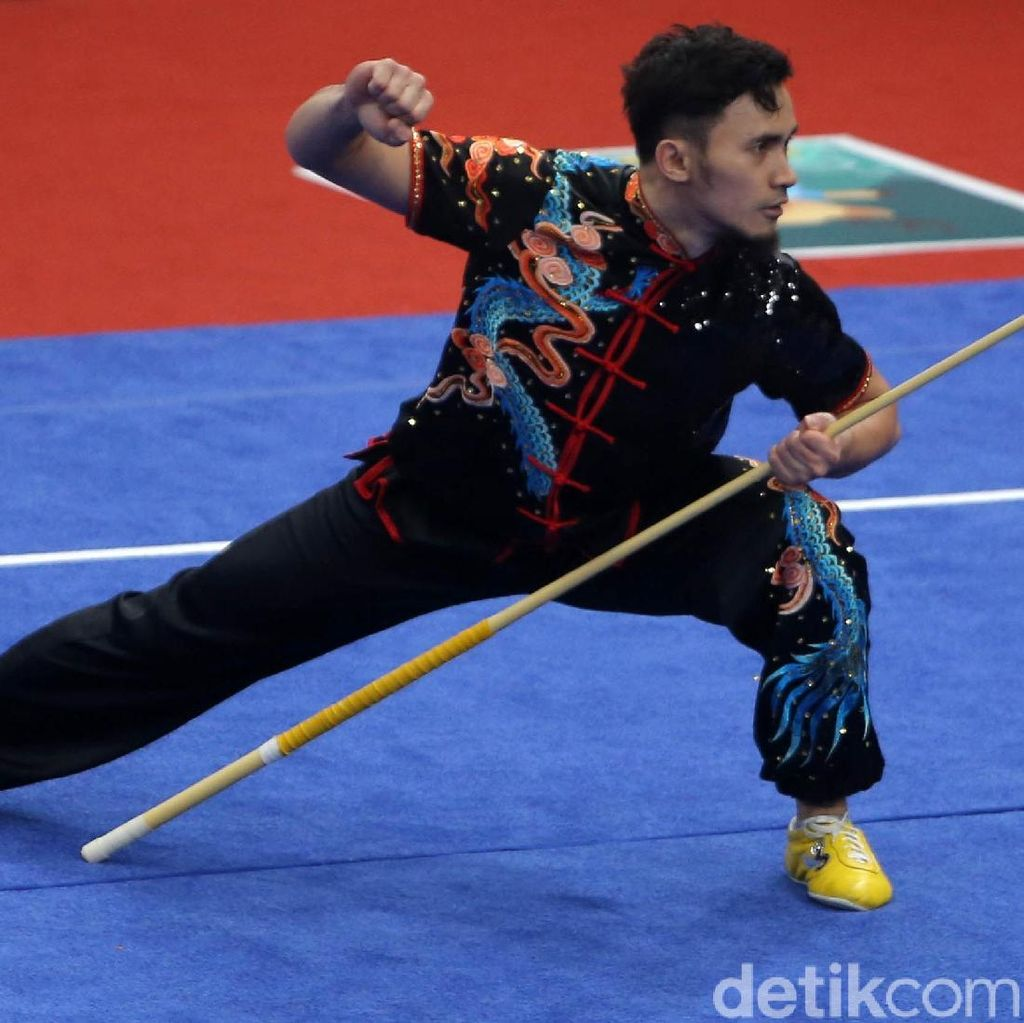 Achmad Hulaefi Tambah Perunggu Indonesia dari Wushu Asian Games 2018