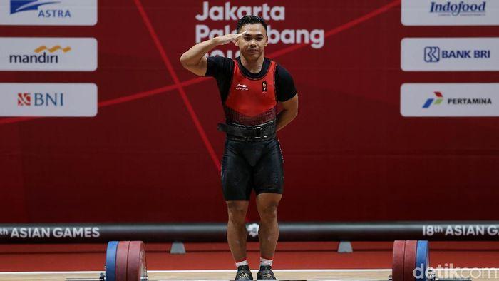 Eko Yuli Irawan bertekad raih emas dari Kejuaraan Asia Angkat Besi 2019. (Agung Pambudhy/detikSport)