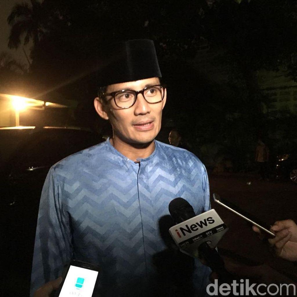 Jokowi-Maruf Disukai Emak-emak, Sandi: Saya Harus Kerja Keras