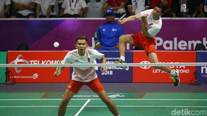 Pemain bulitangkis Indonesia di Asian Games 2018. (Foto: Grandyos Zafna/detikcom)