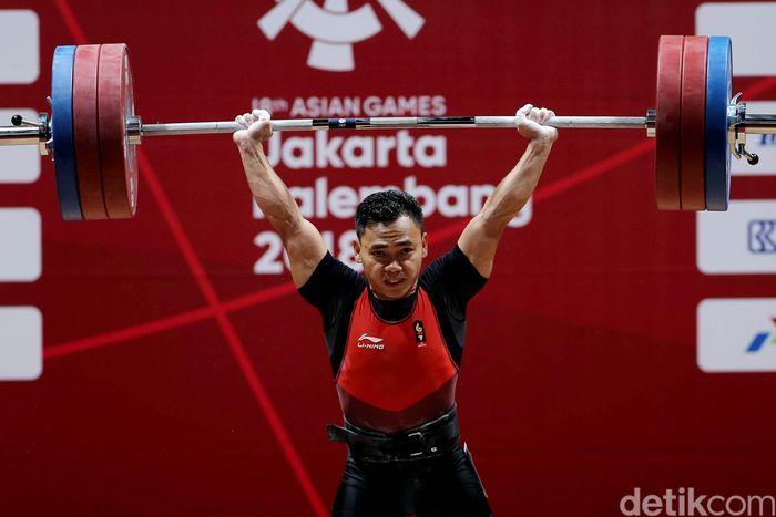 Eko Yuli Irawan menambah koleksi emas Indonesia di Asian Games 2018. Eko tampil sebagai juara di cabang olahraga angkat besi kelas 62 kg.