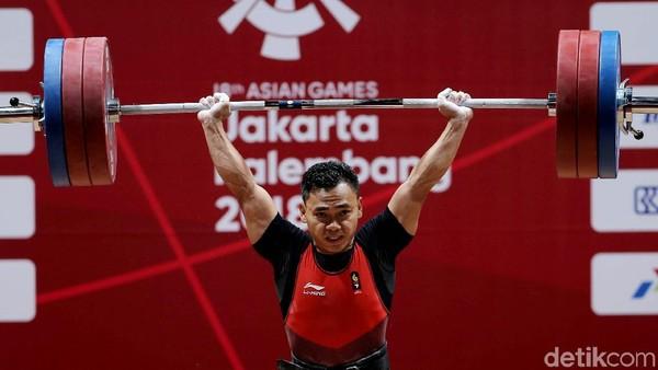 Eko Yuli Irawan berhasil meraih medali emas Asian Games 2018. Dia layak disebut sebagai manusia terkuat di Asia! (Agung Pambudhy/detikFoto)